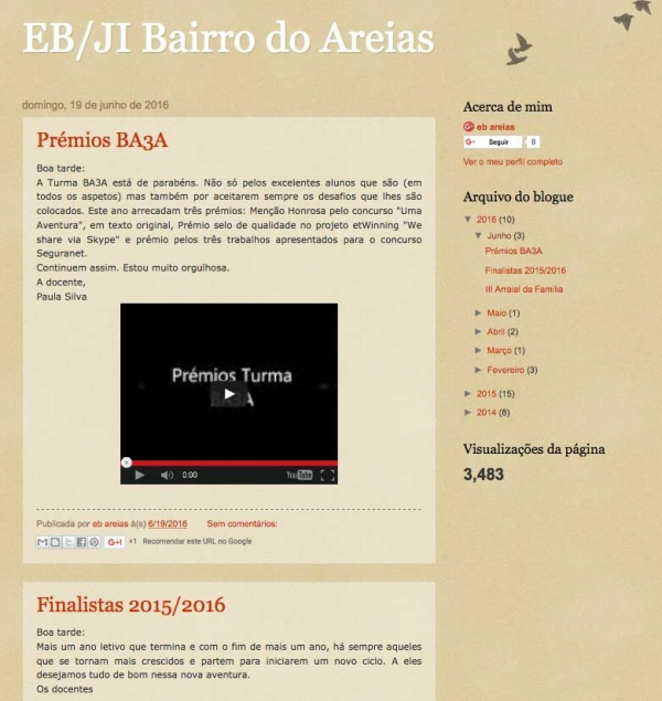 Blog da EB1/JI do Areias